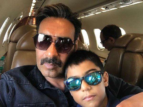 Ajay Devgan and Yug Devgan