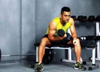 MS Dhoni fitness