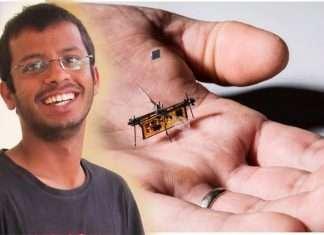 Yogesh Chukevad made flying robot