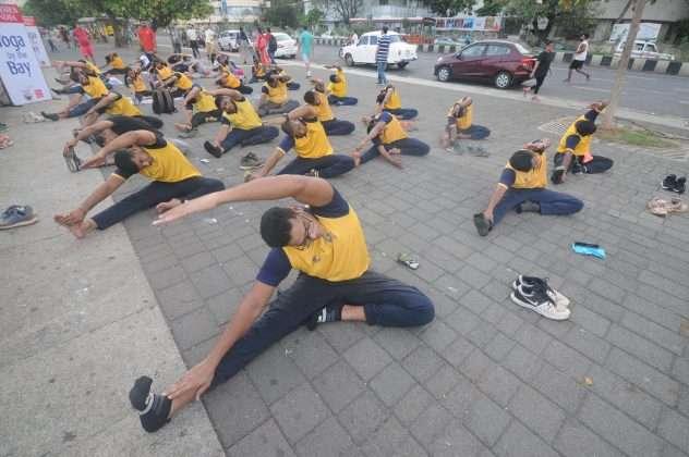 mumbaikar doing yoga