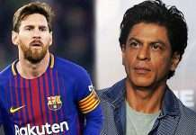 srk rply to tweet about messi