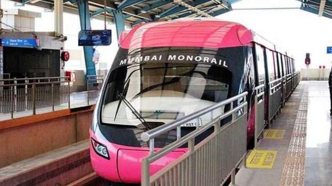 mono rail fire mumbai