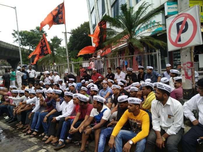 maratha protest in mumbai