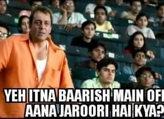 Jocks over Mumbai rains