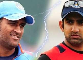 M S dhoni and Gautam Gambhir