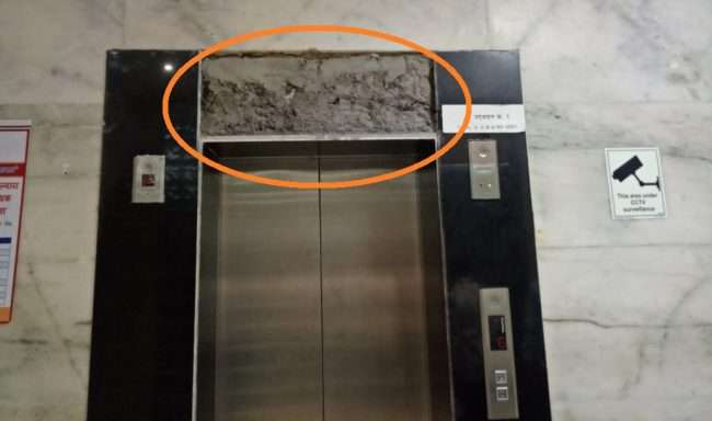 Mantralaya lift marble collapse