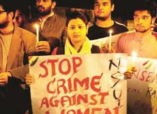 protesting against rape cases