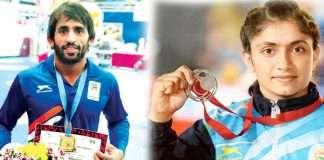 bajarang and pinky won gold medal