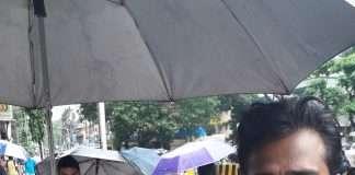 people going hospital in haivy rain