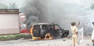 Violent in Navi Mumbai