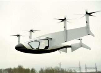 flying taxi rolls royce