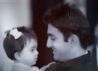 gautam with his daughter