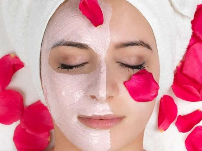 curd and rose water face pack