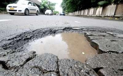 Shahapur potholes