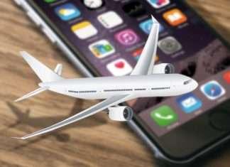 plane and mobile