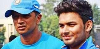 rishabh pant and rahul dravid