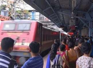 express train in dadar station