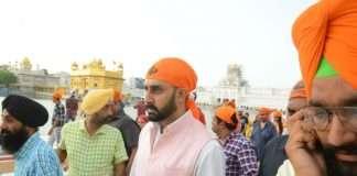 Abhishek Bachchan in Golden Temple