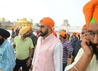 Abhishek Bachchan in Golden Temple