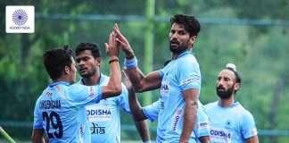 indian men hockey team defeated srilanka