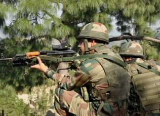 encounter between terrorists and security forces in pulwama