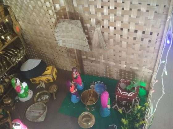 eco friendly bappa contest : gayatri gore decoration on rural life style
