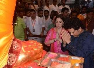 Sachin Tendulkar at Lalbaug Raja