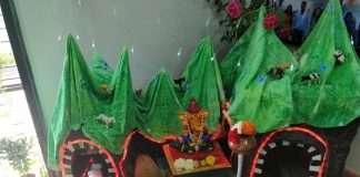 eco friendly bappa contest : Ganapati bappa in nature scenery