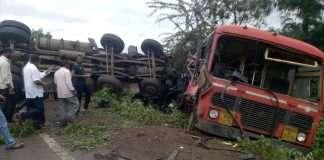 nashik St bus accident