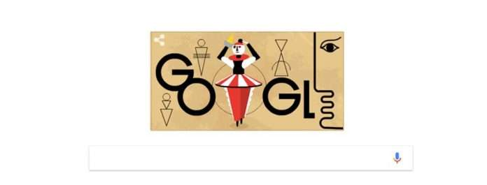 Google Doodle on Oskar Schlemmer