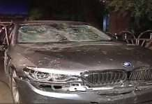 Filmy style police chase to catch drunk bmw driver