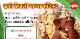Eco Friendly Bappa Contest