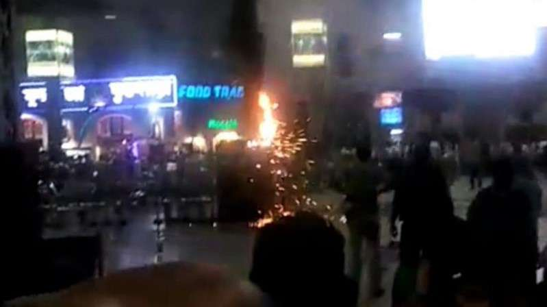 fire at howrah railway station