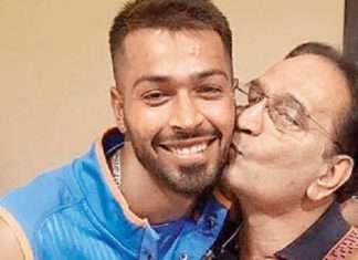 hardik pandya with father