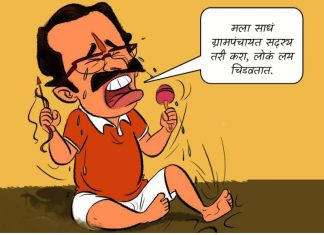 NCP Activist slams Shiv sena on Social Media