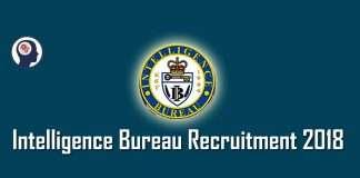 Intelligence Bureau IB Recruitment 2018 1054 post Vacancy