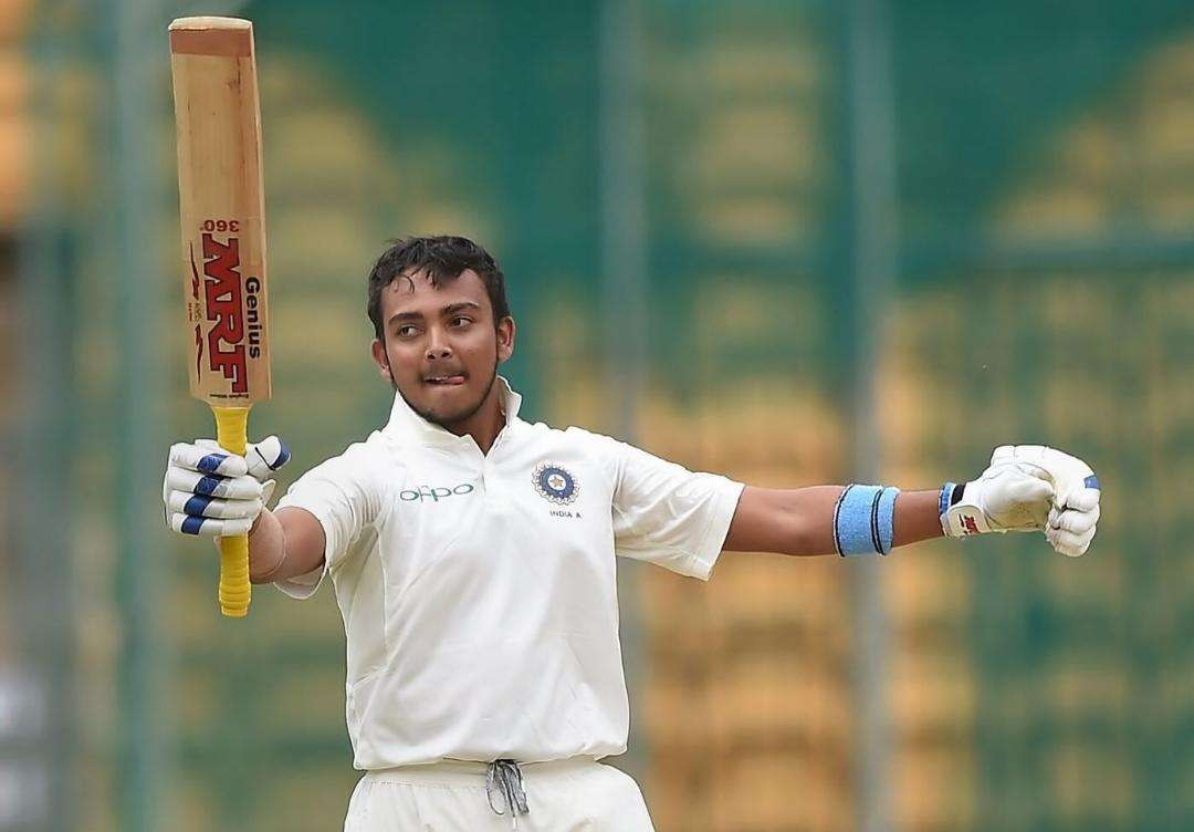 Prithvi Shaw 15th Indian to score hundred on Test debut