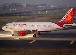 Air India plane hits Trichy airport compound wall emergency landing in Mumbai