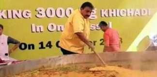 Chef Vishnu Manohar Made new world record of three thousand KG of Khichdi in Nagpur