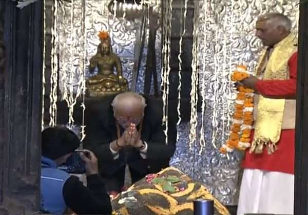PM also visited the famed Kedarnath temple