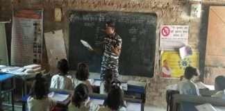 CRPF jawan become teacher in jharkhand
