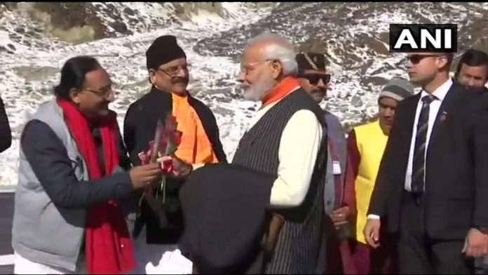 Narendra Modi arrives in Kedarnath