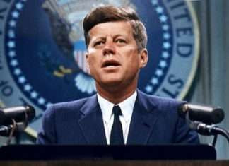 The united states of america's former president John F. Kennedy's 55 years death anniversery