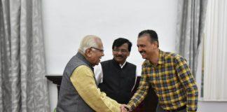 Sena leaders meet up governor Ram Naik