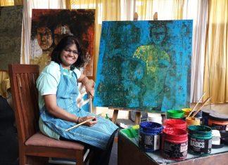 Swati Sabale painting exhibition at Pune Monalisa Kalagram