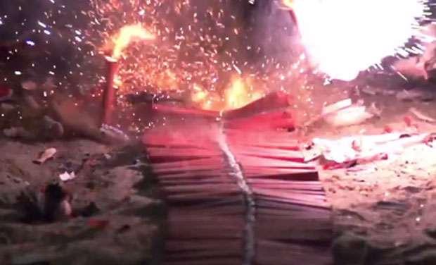 firecrackers bursting