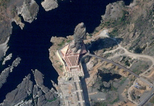 View of Sardar Vallabhbhai Patel's Statue of Unity From Space