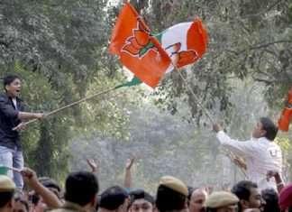 Clash between Congress and BJP workers in Panaji
