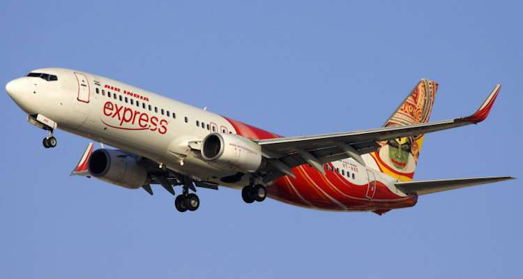 Air India Express Airlines passenger strips