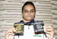 ankita chavhan win gold and silver medal